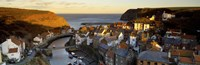 """High Angle View Of A Village, Staithes, North Yorkshire, England, United Kingdom by Panoramic Images - 36"""" x 12"""""""