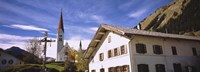 "Low Angle View Of A Church, Holzgau, Lechtal, Austria by Panoramic Images - 36"" x 12"", FulcrumGallery.com brand"