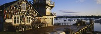"""Building at the waterfront, Fishing Village, Mount Desert Island, Maine, USA by Panoramic Images - 36"""" x 12"""""""