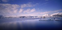 "Glacier floating on water, Jokulsarlon Glacial Lagoon, Vatnajokull, Iceland by Panoramic Images - 36"" x 12"""