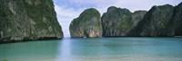 "Rock formations in the ocean, Mahya Beach, Ko Phi Phi Lee, Phi Phi Islands, Thailand by Panoramic Images - 36"" x 12"" - $34.99"