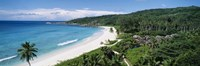 """High angle view of the beach, Grand Anse Beach, La Digue Island, Seychelles by Panoramic Images - 36"""" x 12"""" - $34.99"""