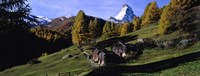 Low angle view of a mountain peak, Matterhorn, Valais Canton, Switzerland Fine Art Print