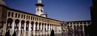 Group of people walking in the courtyard of a mosque, Umayyad Mosque, Damascus, Syria Fine Art Print