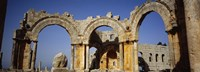 Old ruins of a church, St. Simeon Church, Aleppo, Syria Fine Art Print
