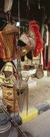 Souvenirs displayed in a market, Palmyra, Syria Fine Art Print