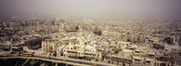 "Aerial view of a city in a sandstorm, Aleppo, Syria by Panoramic Images - 36"" x 12"""