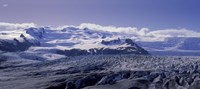 Snowcapped mountains on a landscape, Fjallsjokull and Vatnajokull, Iceland Fine Art Print