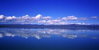 "Reflection of clouds in water, Olfusa, Iceland by Panoramic Images - 36"" x 12"""