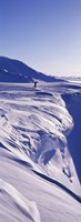 "Person walking on a snow covered mountain, Snaefellsnes Peninsula, Iceland by Panoramic Images - 12"" x 36"""