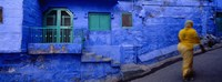"Rear view of a woman walking on the street, Jodhpur, Rajasthan, India by Panoramic Images - 36"" x 14"""