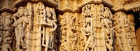 "Sculptures carved on a wall of a temple, Jain Temple, Ranakpur, Rajasthan, India by Panoramic Images - 36"" x 13"""