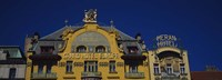 """High section view of a hotel, Grand Hotel Europa, Prague, Czech Republic by Panoramic Images - 36"""" x 12"""""""