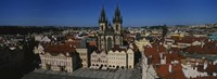 """High angle view of a cityscape, Prague Old Town Square, Old Town, Prague, Czech Republic by Panoramic Images - 36"""" x 12"""", FulcrumGallery.com brand"""