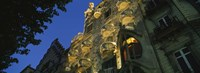 """Low angle view of a building, Casa Batllo, Barcelona, Catalonia, Spain by Panoramic Images - 36"""" x 12"""""""