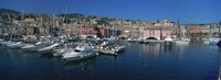 "Boats at a harbor, Porto Antico, Genoa, Italy by Panoramic Images - 36"" x 12"""