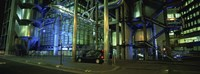 """Car in front of an office building, Lloyds Of London, London, England by Panoramic Images - 36"""" x 12"""""""