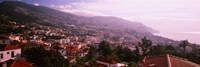 High angle view of a town, Fortela de Pico, The Pico Forte, Funchal, Madeira, Portugal Fine Art Print