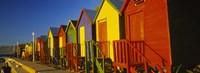 Beach huts in a row, St James, Cape Town, South Africa Fine Art Print