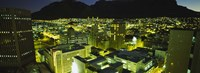 """High angle view of a city lit up at night, Cape Town, South Africa by Panoramic Images - 36"""" x 12"""" - $34.99"""