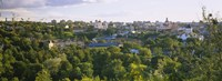 """High angle view of a city, Vilnius, Trakai, Lithuania by Panoramic Images - 36"""" x 12"""""""