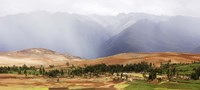"""Clouds over mountains, Andes Mountains, Urubamba Valley, Cuzco, Peru by Panoramic Images - 36"""" x 12"""", FulcrumGallery.com brand"""