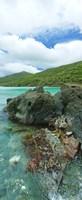 "Rocks in the sea, Jumbie Bay, St John, US Virgin Islands by Panoramic Images - 12"" x 36"""