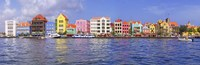 Buildings at the waterfront, Willemstad, Curacao, Netherlands Antilles Fine Art Print
