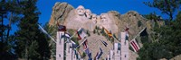 Statues on a mountain, Mt Rushmore, Mt Rushmore National Memorial, South Dakota, USA Fine Art Print