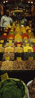 """Two vendors standing in a spice store, Istanbul, Turkey by Panoramic Images - 12"""" x 36"""""""