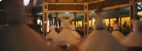 """Dervishes dancing at a ceremony, Istanbul, Turkey by Panoramic Images - 36"""" x 12"""", FulcrumGallery.com brand"""