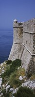 Fortress of St Petar as seen from city wall, Dubrovnik, Croatia Fine Art Print