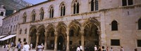 Group of people in front of a palace, Rector's Palace, Dubrovnik, Croatia Fine Art Print