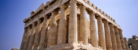 Old ruins of a temple, Parthenon, Acropolis, Athens, Greece Fine Art Print