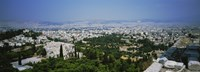 """High angle view of a city, Acropolis, Athens, Greece by Panoramic Images - 36"""" x 12"""""""