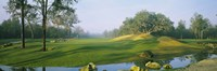 """Stream on a golf course, Haile Plantation, Gainesville, Florida, USA by Panoramic Images - 36"""" x 12"""""""