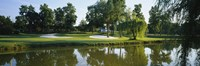 """Lake on a golf course, Tantallon Country Club, Fort Washington, Maryland, USA by Panoramic Images - 36"""" x 12"""""""