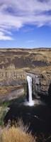 High angle view of a waterfall, Palouse Falls, Palouse Falls State Park, Washington State, USA Fine Art Print