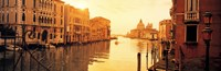 """Buildings along a canal, view from Ponte dell'Accademia, Grand Canal, Venice, Italy by Panoramic Images - 36"""" x 12"""""""