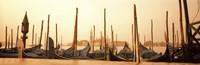 Gondolas moored at a harbor, San Marco Giardinetti, Venice, Italy Fine Art Print