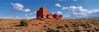 Ruins of a building in a desert, Wukoki Ruins, Wupatki National Monument, Arizona, USA Fine Art Print