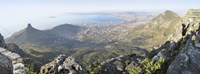 High angle view of a coastline, Table Mountain, Cape town, South Africa Fine Art Print