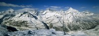 Mountains covered with snow, Matterhorn, Switzerland Fine Art Print