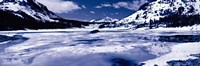 "Lake and snowcapped mountains, Tioga Lake, Inyo National Forest, Eastern Sierra, Californian Sierra Nevada, California by Panoramic Images - 36"" x 12"""