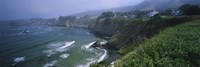 "High angle view of a coastline, Elk, California, USA by Panoramic Images - 36"" x 12"""