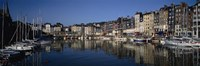 """Boats docked at a harbor, Honfleur, Normandy, France by Panoramic Images - 36"""" x 12"""""""