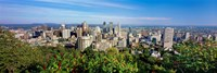 """High angle view of a cityscape, Parc Mont Royal, Montreal, Quebec, Canada by Panoramic Images - 36"""" x 12"""", FulcrumGallery.com brand"""