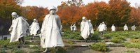 """Statues of army soldiers in a park, Korean War Memorial, Washington DC, USA by Panoramic Images - 36"""" x 12"""""""