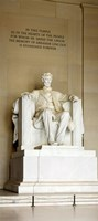 Abraham Lincoln's Statue in a memorial, Lincoln Memorial, Washington DC, USA Fine Art Print