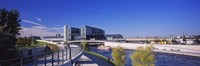 """Footpath along a river, Spree River, Central Station, Berlin, Germany by Panoramic Images - 36"""" x 12"""" - $34.99"""
